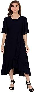 Lastinch Women's Black Wrap Style Dress