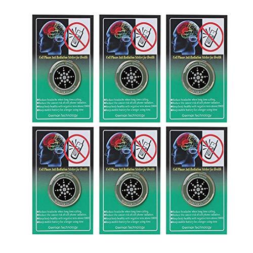 Helmay 1/6/10 stuks Radiation Shield Cell Phone anti-straling sticker bescherming voor mobiele telefoon