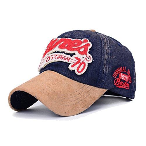 Sporty Baseballcap Retro Trucker Classic Vintage College Used Look Cap Navy