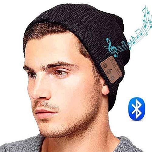 ULTRICS Bluetooth Beanie Mütze, Unisex Stereo Kopfhörer und Mikrofon, V5.0 Wireless Winter Hut Kompatibel mit iPhone, Android ideal zum Hände Free Call Gym Musik Hören Laufen Skaten Wandern Geschenk