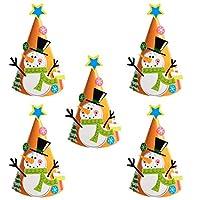 (POMAIKAI) 子供と作る クリスマス 三角帽子 キット 5個セット (スノーマン5個)