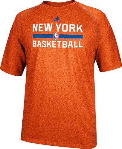 adidas Nueva York Knicks Heather Naranja Climalite práctica de Manga Corta