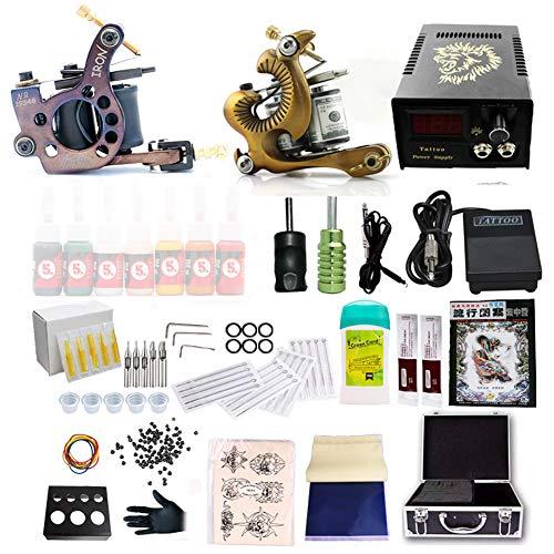 Machine De Tatouage Kit Digital Power Supply Rotary Ensemble Tatouage Tatouage Professionnel Machine Ensemble Complet Équipement Tatouage Maquillage Outil Pédalez 20 Cartouches Aiguille