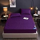 GTWOZNB Protector de colchón Acolchado - Microfibra - Transpirable Funda Protectora de sábana Impermeable-púrpura_120 * 200cm