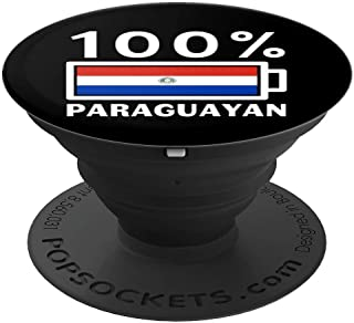 Paraguay Flag Design | 100% Paraguayan Battery Power Tee - PopSockets Grip and Stand for Phones and Tablets