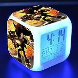 BMSYTY 3D7 cambio de color luz de noche led digital reloj anime despertador reloj de escritorio Desertador N8