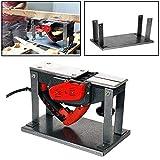 Soporte abatible Flip Planer mesa de guía para cepillos eléctricos domésticos Para bancos de carpintería, plateado