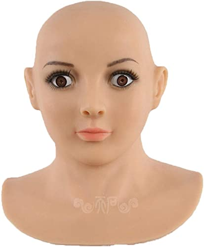 venta caliente en línea XSWE Transgénegro Máscara, Realista Máscara Máscara Máscara De Silicona Máscaras Femeninas De Halloween De Navidad Máscaras De ángel Cara De Cosplay Transexual Travesti Travestis  tienda hace compras y ventas