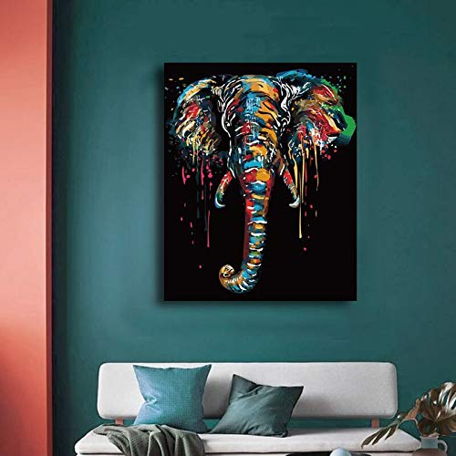 Puzzle 1000 piezas Figura elefante animales coloreados por número puzzle 1000 piezas animales Rompecabezas de juguete de descompresión intelectual educativo divertido juego fa50x75cm(20x30inch)
