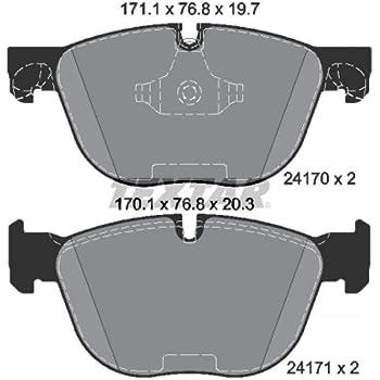 Bremsbelagsatz Scheibenbremse TEXTAR 2417001