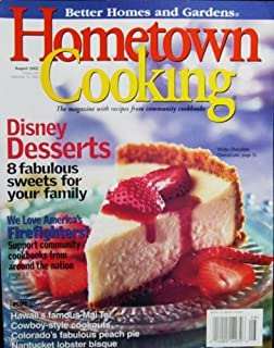 Better Homes And Gardens Hometown Cooking Magazine August 2002, Single Issue