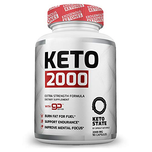 KetoState - Keto Pills with Exogeneous Ketones (90 ct) for The Keto Weight Loss Diet - Utilize Fat for Energy with Ketosis - Manage Cravings and Burn Fat - for Men and Women