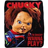 Silver Buffalo CK0527 Universal Chucky 'Wanna Play' Raschel Throw, 50 x 60 inches