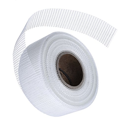 Outus Self-Adhesive Drywall Repair Fabric Fiberglass Adhesive Tape for Wall Cracks, 2 Inch by 131.4 Feet, 1 Roll