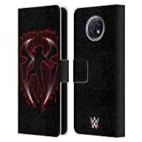 Head Case Designs オフィシャル ライセンス商品 WWE Roman Reigns Red Logo 2017/18 スーパースターズ4 Xiaomi Redmi Note 9T 5G 専用レザーブックウォレット カバーケース