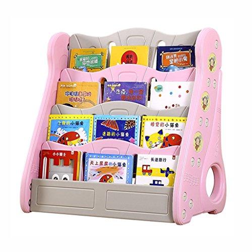 Bibliothèque pour enfants Etagère pour Enfant Bibliothèque Enfant avec des Etagère Enfant Livres Chambre d'enfant Bibliothèque Meuble de Rangement Etagère Livrese Stockage ( Color : Pink )