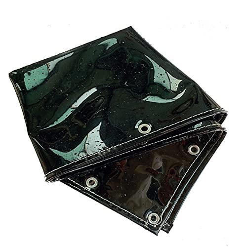 YJFENG Transparente Lona Alquitranada Impermeable, Paño De Sombra Negro Lona con Ojales, 95% De Reflectividad 0,35 Mm Impermeable Cubierta De Hoja Dividir Cortina para Plantas Techo Jardín
