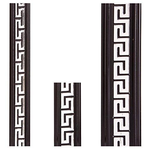 Versace Design Stuckleisten Deckenleisten Kunststoff lackiert - Moderne Zierleisten in verschiedenen Größen (145 x 5,5 x 1,2 cm)