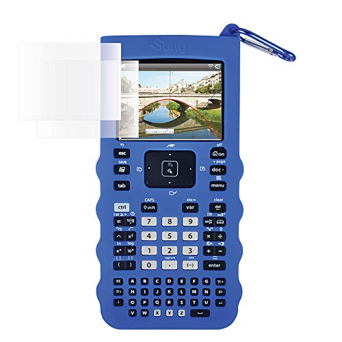 Sully Silicone Skin for Ti Nspire CX/CX CAS Handheld (Blue) w/Screen Protector - Silicon Cover Case for Ti-Nspire CX Hand held Graphing Calculator - Protective & Anti-Scretch Skins & Screen Covers