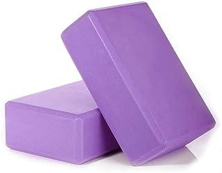 Yoga Blocks(Set of 2) - EVA Foam Soft Non-Slip Surface for Yoga Stability Blocks,Pilates, Meditation Improve Balance and F...