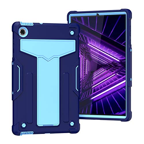 GHC Pad Fundas & Covers para Lenovo Tab M10 FHD Plus X606F, Color Patchwork ATRÁS Tablet Funda Protectora para Lenovo Tab M10 FHD Plus (Color : Dark Blue Light Blue)
