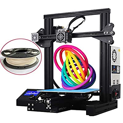DISWAY 3D Printer with 200g Filament FDM DIY Printers Fully Open Source with Resume Printing All Metal Frame 220x220x250mm