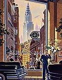 The Chryslers, Nueva York City Jigsaw Puzzle 1000 piezas de madera juego de arte para adultos y adolescentes