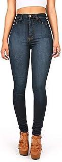 Vibrant Womens Juniors Classic High Waist Denim Skinny Jeans