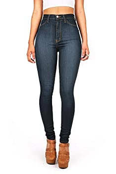 Vibrant Womens Juniors Classic High Waist Skinny Jeans