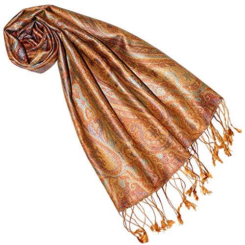 Lorenzo Cana Luxus Seidenschal für Frauen Schal 100% Seide gewebt Damenschal elegant Paisley Muster Mehrfarbig 7818977