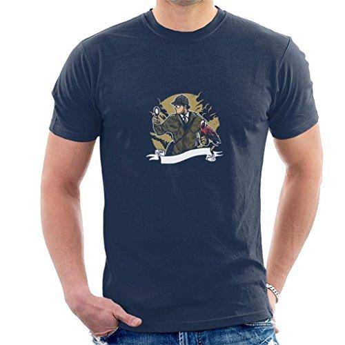 Sherlock Holmes Parrot Vergrootglas heren T-shirt