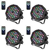 Anbull Luci Palco Par LED Luce Discoteca Fari Led 36 LED DMX 512 RGB Faretto Effetto Luce ...