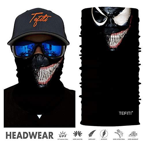 TEFITI Balaclava Face Mask, Multifunctional Headwear Neck Gaiter for Men, 3D Dust...