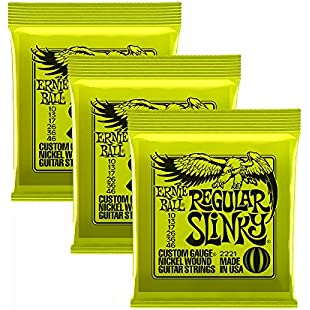 Ernie Ball Regular Slinky Nickel Wound Sets.010 - .046, Bundle of 3 Sets
