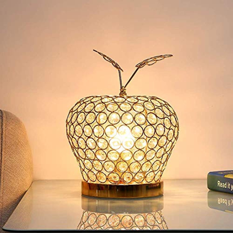 SGWH Kristallglas Tischlampe, Dimmbare Tischlampe Chrom Kristall Schreibtischlampe Schlafzimmer Nachttischlampe Luxus Hochzeit Dekoration Tischlampe Kreative Tischlampe (E27 Lampenfassung Gold) (Editi