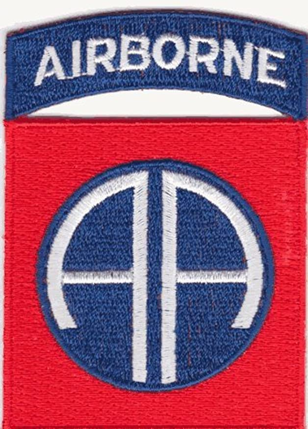 82nd Airborne iron-on embroidered patch
