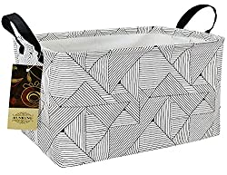 The Best Gifts for Teenage Girls geometric gray pattern canvas basket for teen girl haircare gift basket.