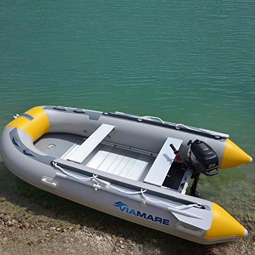VIAMARE Unisex - volwassenen opblaasbare boot 330 S aluminium, grijs