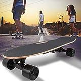 Longboard Skate Électrique Ville Scooter Longboard Électrique avec Télécommande Et La Portée du Moteur Ca 10 Km Vitesse 20 Kmh, A