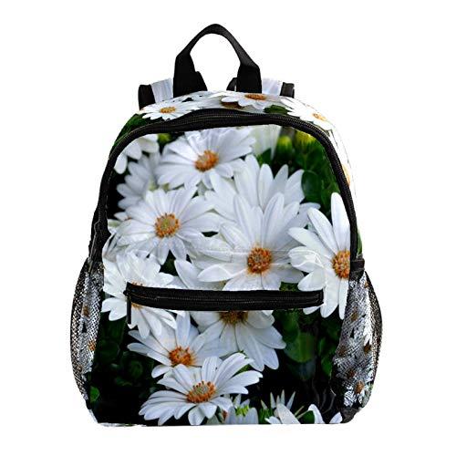 Mochila Multifunción Trekking Daypacks Mochila escolar Mochila Deportes al aire libre Librero, Flores Blancas