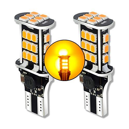 MCK Auto - Sostituzione per T10 T15 W16W LED CanBus Set di lampadine arancioni molto chiare e senza errori compatibili con A1 8X