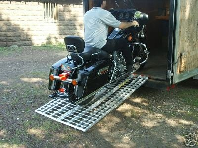 Five Star Aluminum Ramp 6 ft. USA - Motorcycles on to Trailers - 444 MCDR Ramp