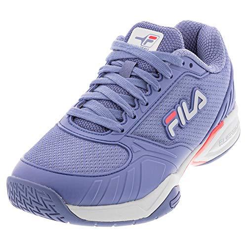 FILA Women Volley Zone Shoes, Color: Infi/Pair/Dpnk, Size: 9.5 (5PM00595-418-9.5)