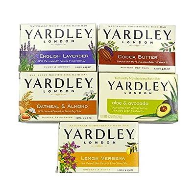 Yardley London Soap Bath Bar Bundle - 10 Bars: English Lavender, Oatmeal and Almond, Aloe and Avocado, Cocoa Butter, Lemon Verbena 4.25 Ounce.