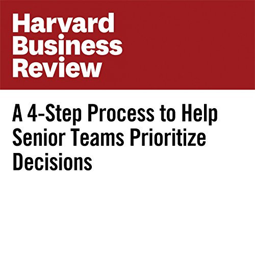 A 4-Step Process to Help Senior Teams Prioritize Decisions copertina
