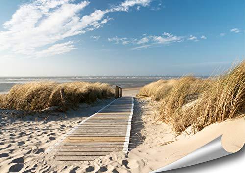 ARTBAY EIN Weg zum Meer - Poster XXL - 118,8 x 84 cm | Nordsee | Strand | Natur Poster |Premium Qualität