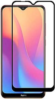 شاشة حماية زجاجية كاملة 9D شطف ليزر لهاتف شاومي ريدمي 8A ، لصق كامل بتقنية ال 9H الغير قابلة للكسر او الخدش - اسود