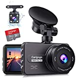 Dash Cam For Cars Front and Rear(32g Card Included)Full HD 1080P Carigogo Dual