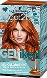 got2b GELiked Gel-Coloration, Haarfarbe 6.88 Rubin Rot Stufe 3, 3er Pack(3 x 143 ml)
