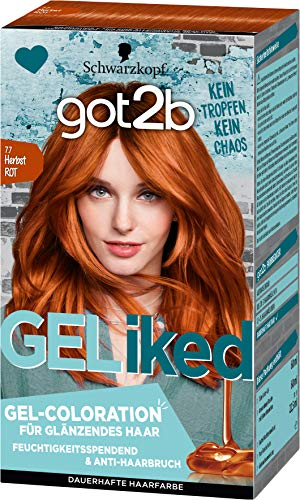 got2b GELiked Gel-Coloration 7.7 Herbst Rot Stufe 3, 3er Pack(3 x 143 ml)